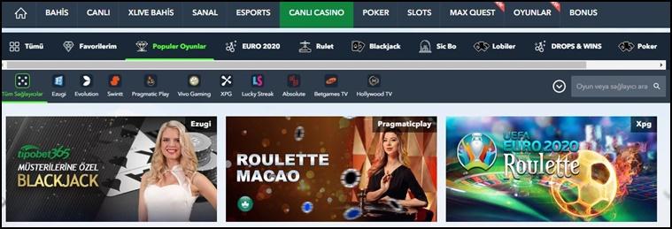 tipobet casino oyunu